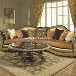 Fabric Sofa Sets With Wood Trim Leather Conversation 2 Piece Ancona Sectional Set Usa Furniture Online