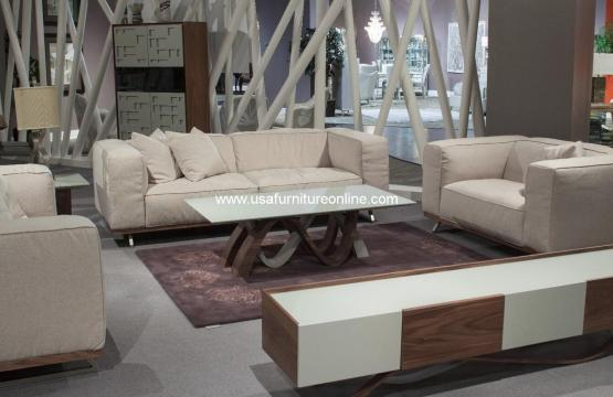 Tempo Fabric Modern Sofa Set
