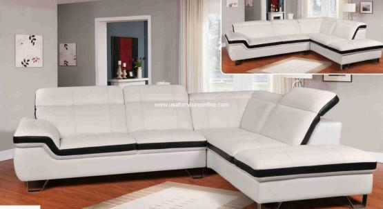 F340 leather sectional