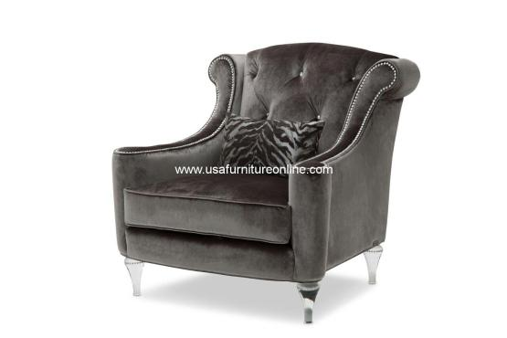 Adele Tufted Chair with Crystals