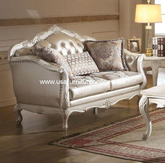 Chantelle Loveseat Pearl White
