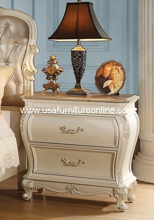 Chantelle Nightstand With Granite Top