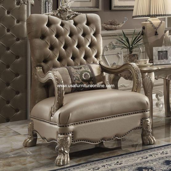 Dresden Accent Chair Gold Patina