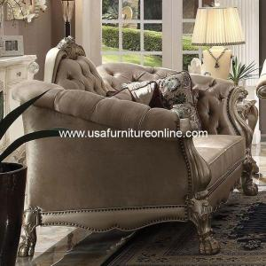 Acme Dresden Loveseat Gold Patina
