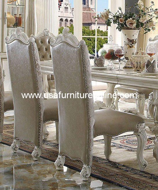 Versailles Dining Side Chair In bone White