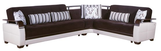Dogal Sleeper Sectional Colins Brown