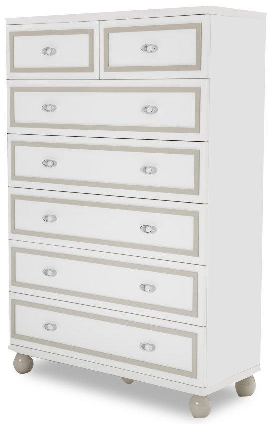 Sky Tower Cloud White 7 Drawer Chest