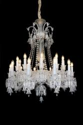 20 Light Treviso Chandelier Clear Glass & Chrome Finish