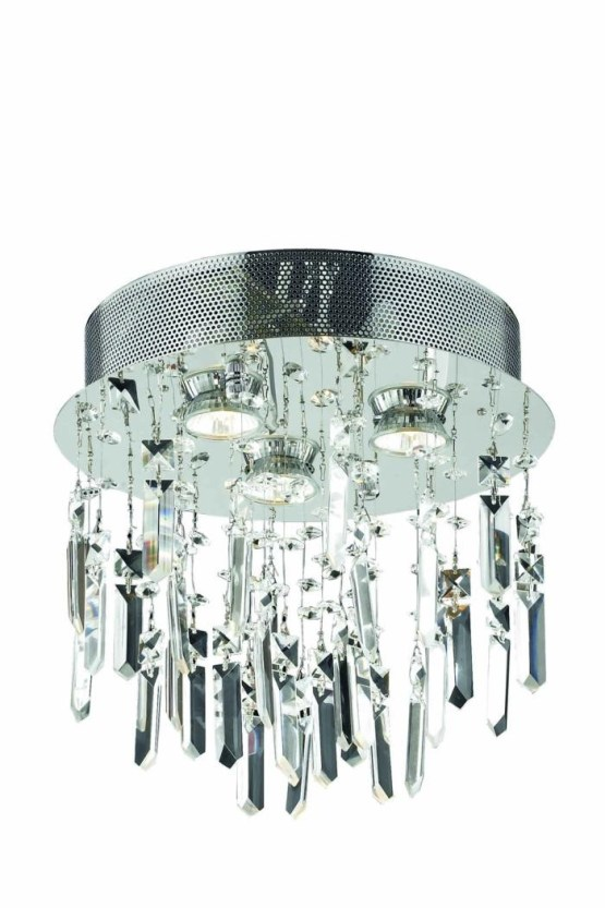 "3 Lights Flush Mount 13"" Chandelier 2006 Galaxy Collection"