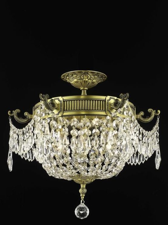 3 Lights Flush Mount 18 Chandelier 9303 Esperanza Collection