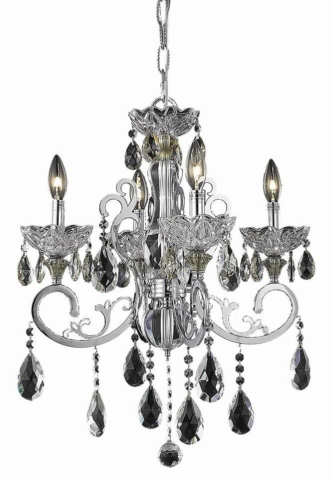 4 Lights Chandelier 2830 Aria Collection By Elegant