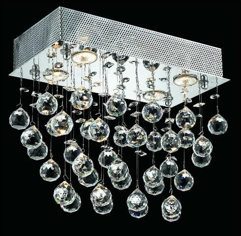 4 Lights Flush Mount Chandelier 2021 Galaxy Collection