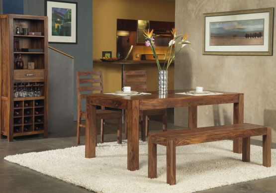 4 Piece Genus Solid Wood Dining Set