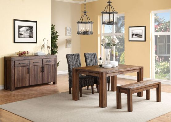 4 Piece Meadow Solid Wood Dining Set