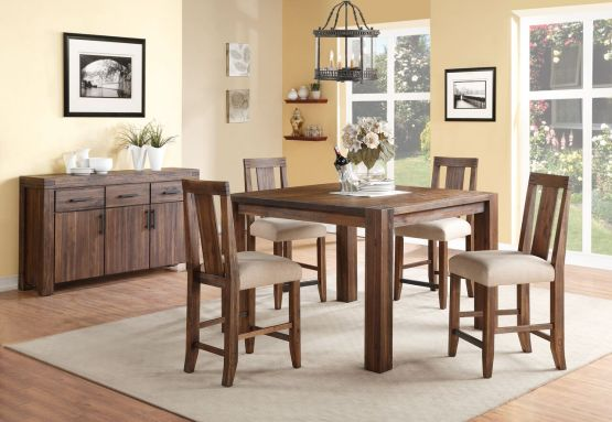 5 Piece Meadow Solid Wood Counter Dining Set