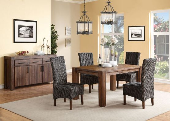 5 Piece Meadow Solid Wood Dining Set