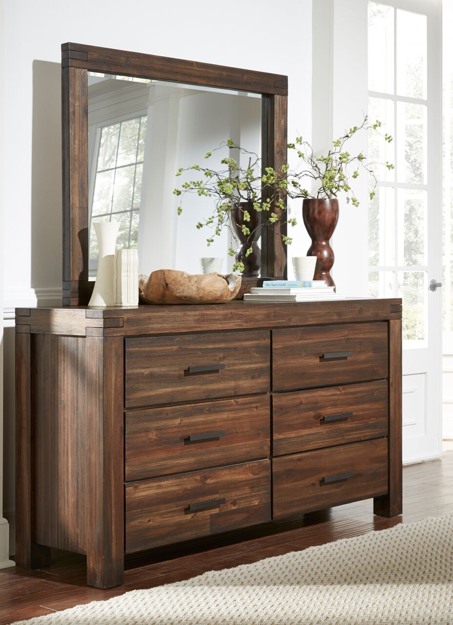 Meadow Solid Wood Dresser With Mirror By Modus Usa
