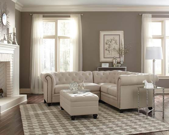 3 Piece Roy Fabric Sectional
