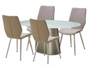 7 Piece Trance Halsted Oval Extendable Dining Set