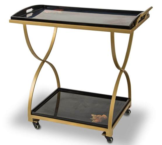 Illusion Accent Serving Cart