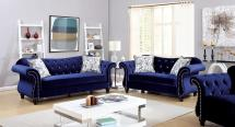 Blue Fabric Sofa Sets Living Room