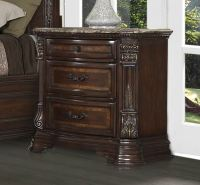 Antoinetta 3 Drawer Nightstand With Marble Top By ...