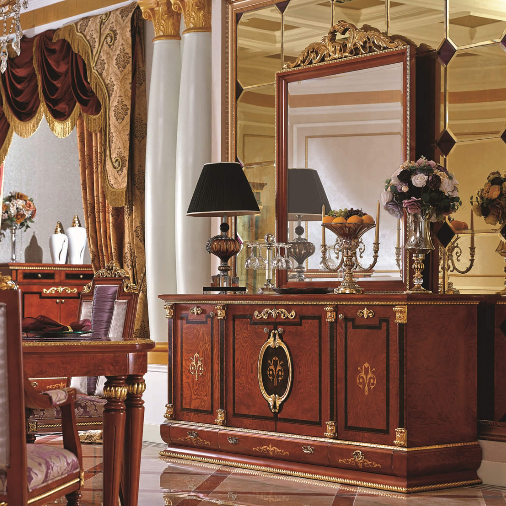 Empire European Buffet Cabinet Luxury Series Collection