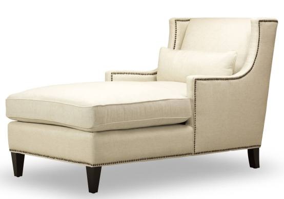 Ava Chaise Natural Fabric By Spectra Home