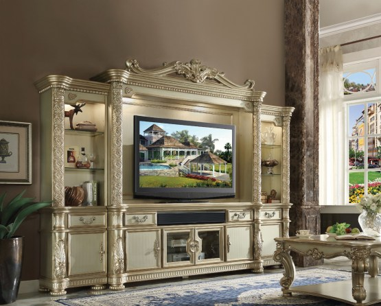 4 Piece Vendome Wall Entertainment Center