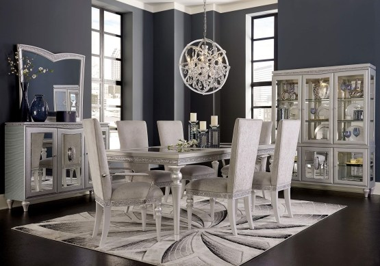 Melrose Plaza 4 Leg Upholstered Dining Set