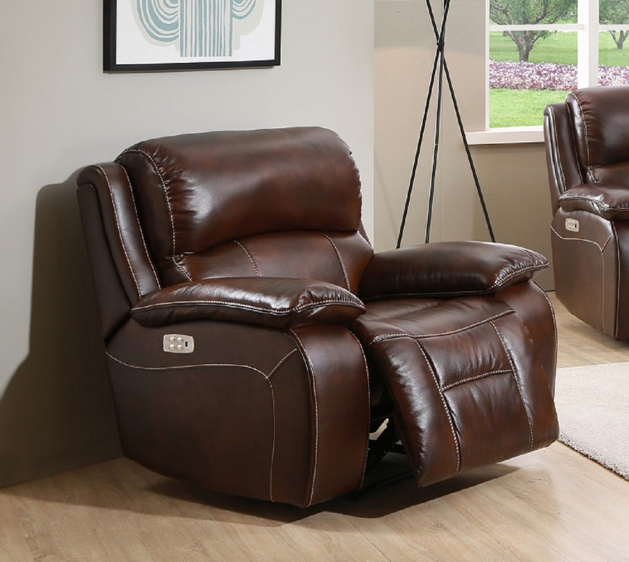 Peachy Westminster Top Grain Leather Power Recliner Power Headrest Bralicious Painted Fabric Chair Ideas Braliciousco