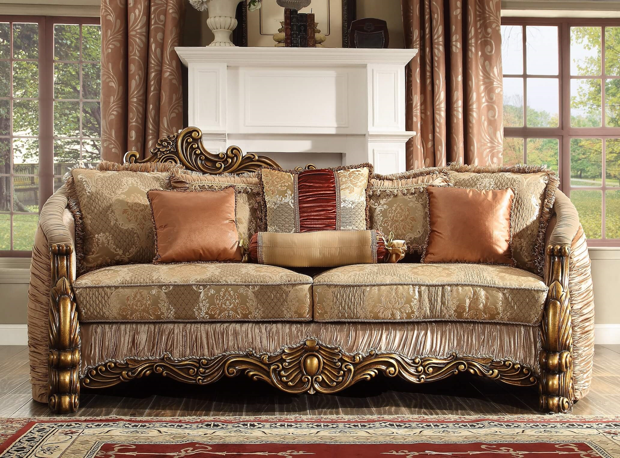Old World Sofa Homey Design Hd 1601 Usa Furniture Online