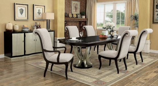 Ornette Double Pedestal Dining Set