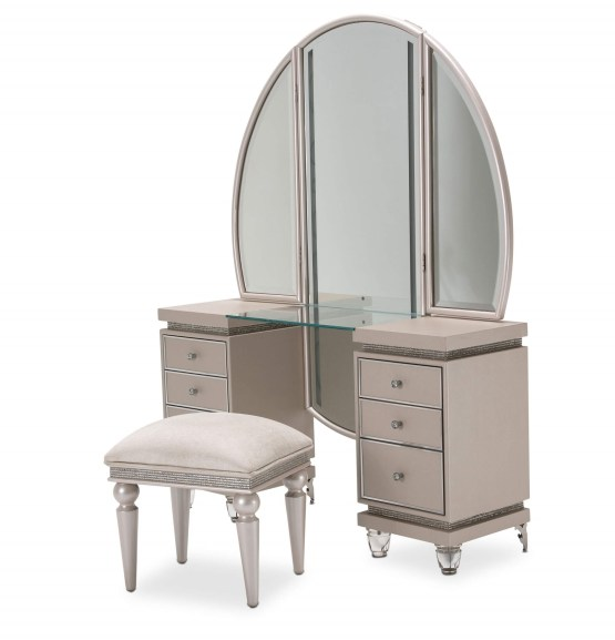 3 Piece Glimmering Heights Vanity Set
