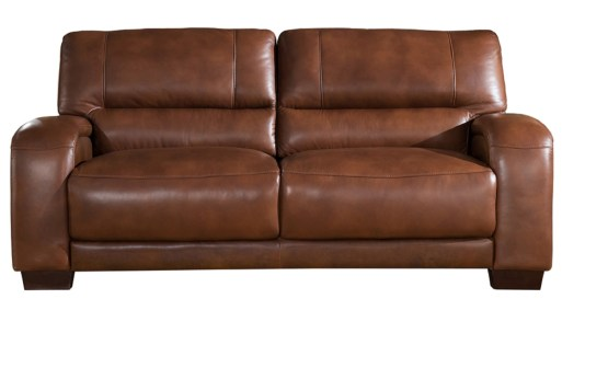 Jane Furniture Brigitte Brown Leather Sofa
