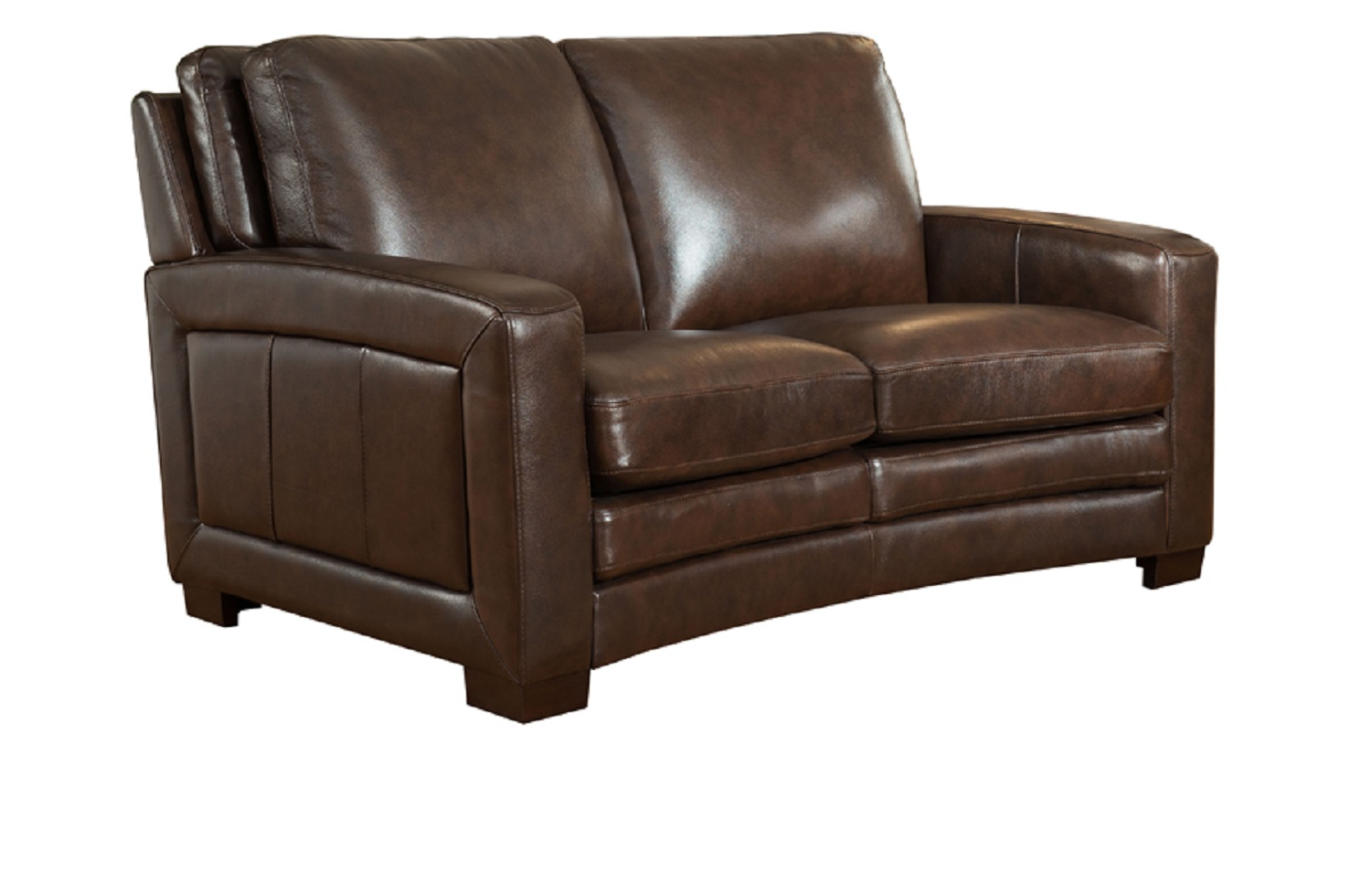 Groovy Jane Furniture Joanna Top Grain Dark Brown Leather Loveseat Gmtry Best Dining Table And Chair Ideas Images Gmtryco