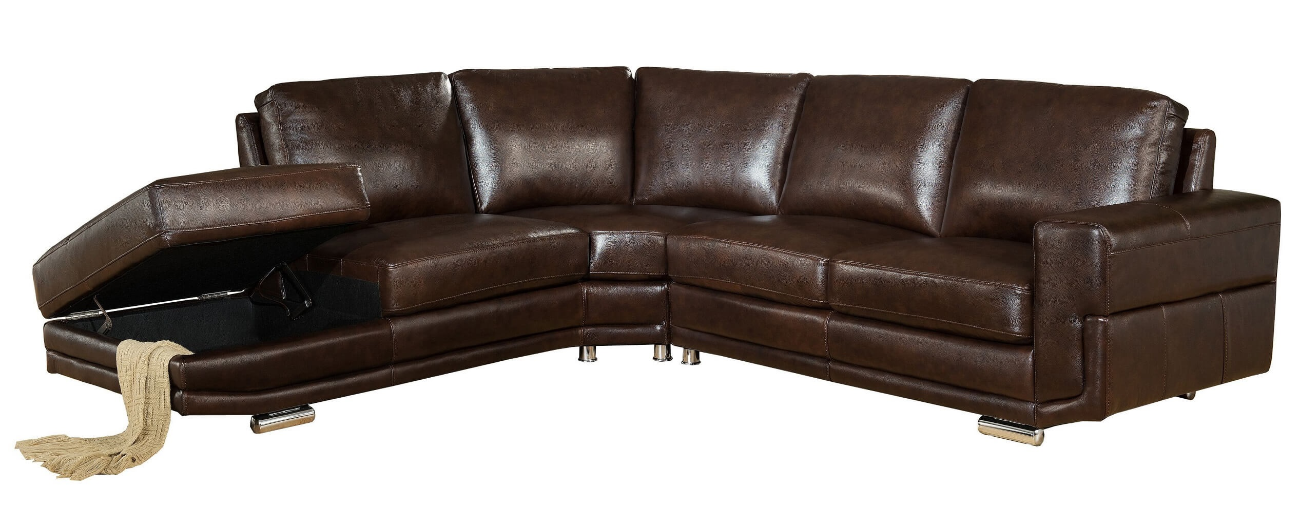 Incredible Jane Furniture Cecile Top Grain Dark Brown Leather Sectional Set Spiritservingveterans Wood Chair Design Ideas Spiritservingveteransorg