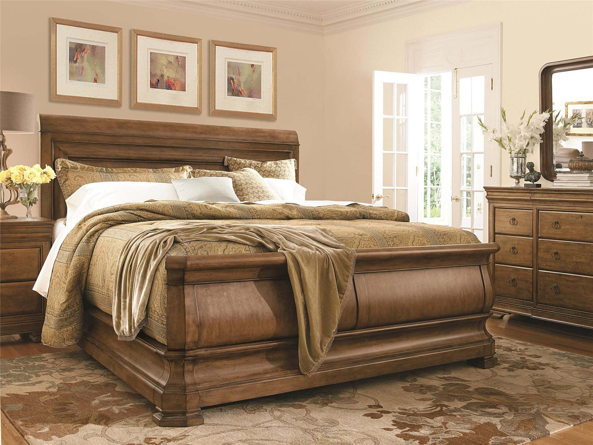 Universal Furniture New Lou Sleigh Bed Usa Furniture Online