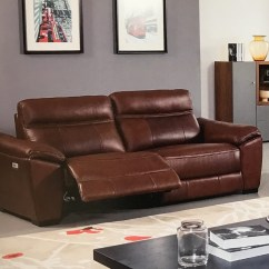 Power Reclining Sofa Made In Usa Intex Queen Sleeper Reviews Forma Brown Full Italian Leather