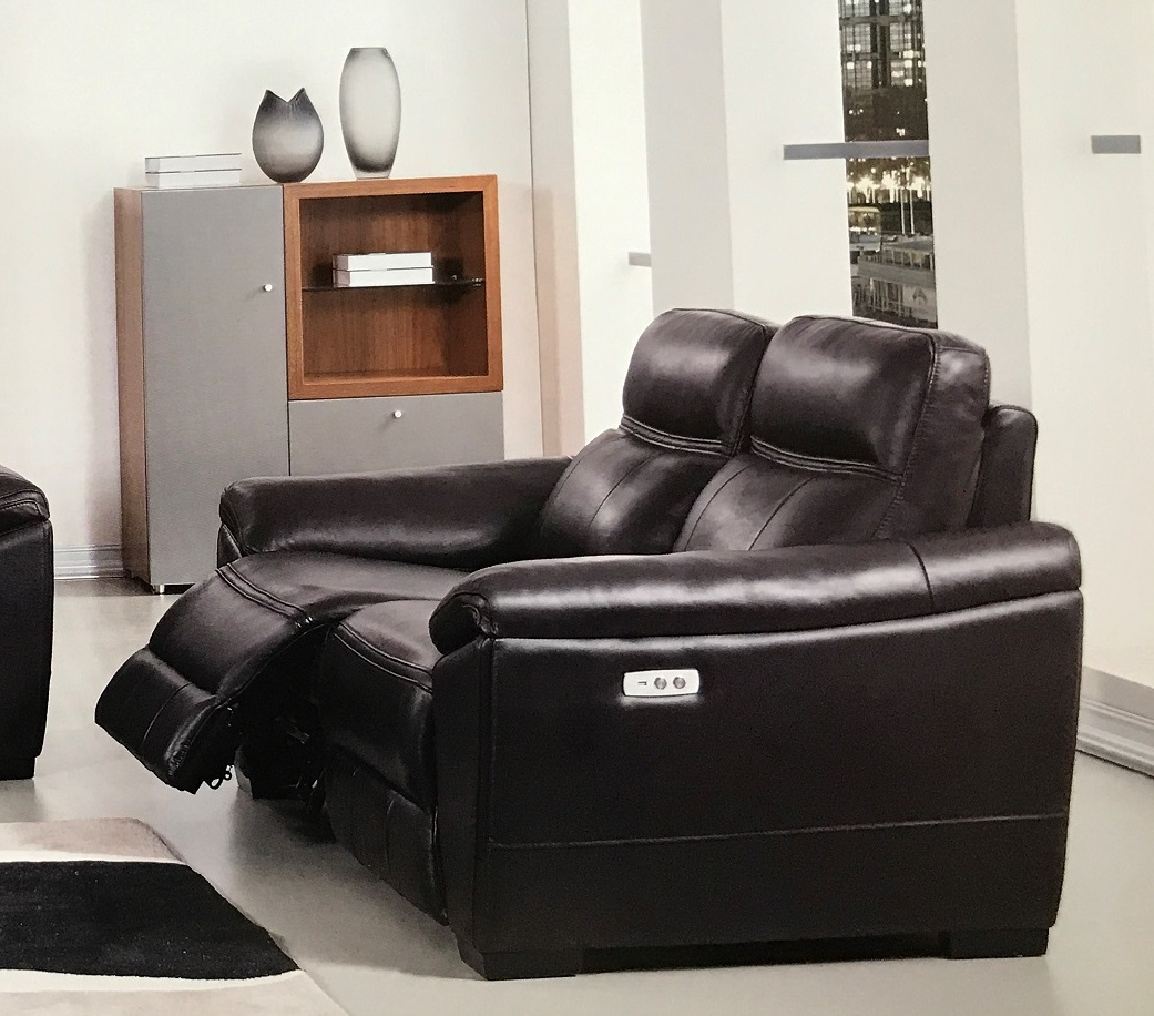 italian leather recliner sofa set stretch slipcover forma dark brown power reclining loveseat