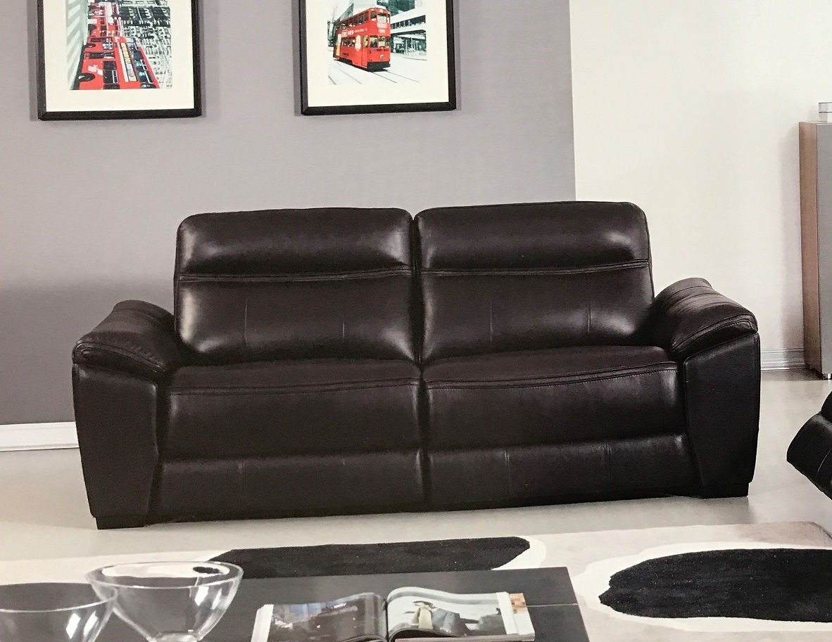 italian leather recliner sofa set lee slipcovered reviews forma dark brown power reclining