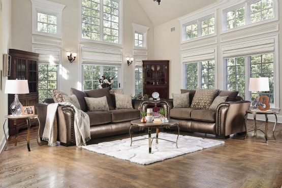 2 Piece Benigno Bronze Sofa Set