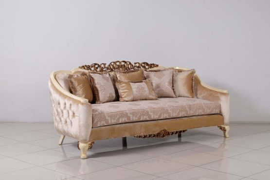 Angelica Wood Trim Sofa