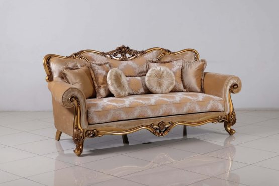 Cleopatra Wood Trim Sofa