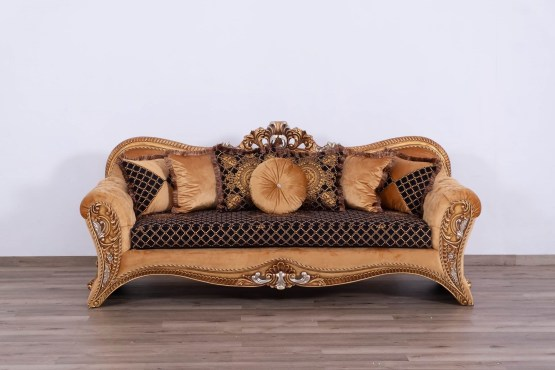 Emperador Wood Trim Sofa