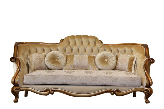 Carlotta Wood Trim Sofa