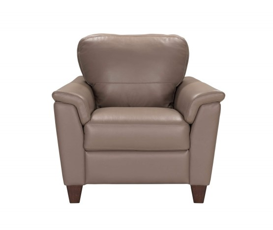 Belfast Taupe Italian Leather Chair