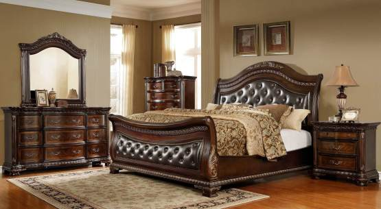 McFerran B9588 Merida Sleigh Bedroom Set