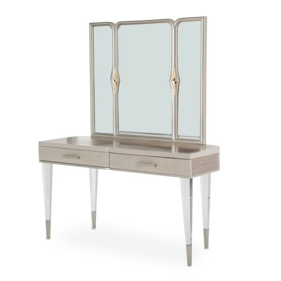 2 Piece Aico Camden Court Vanity Desk