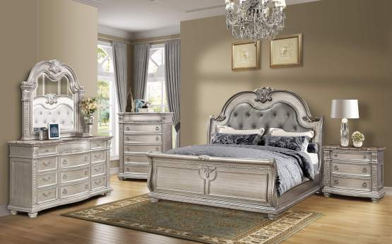 4 Piece Mcferran B9506 Bedroom Set